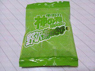 亀田の柿の種ピーナッツ入り野沢菜わさび味 亀田製菓